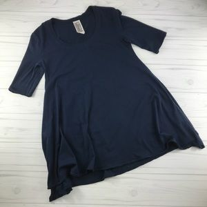 Free People Blue Tunic Top Small